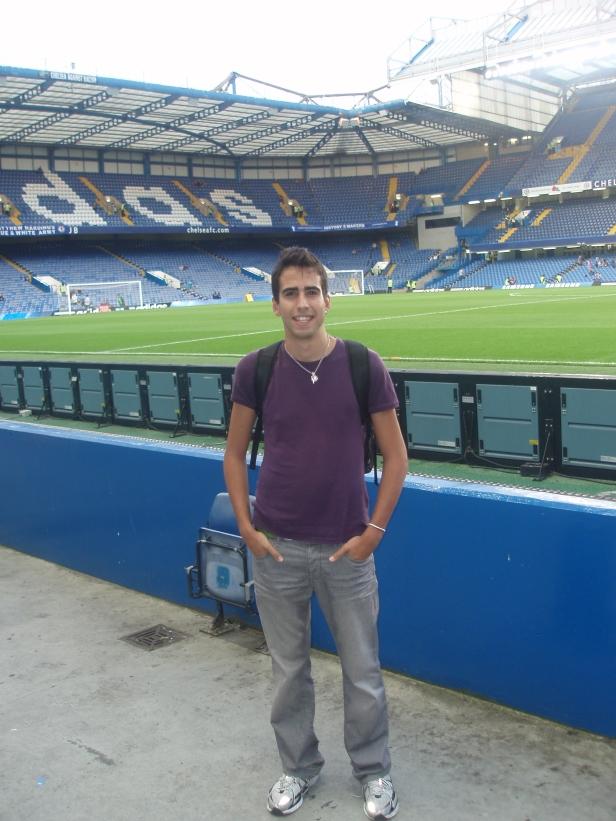 Yo en Stamford Bridge (Chelsea)