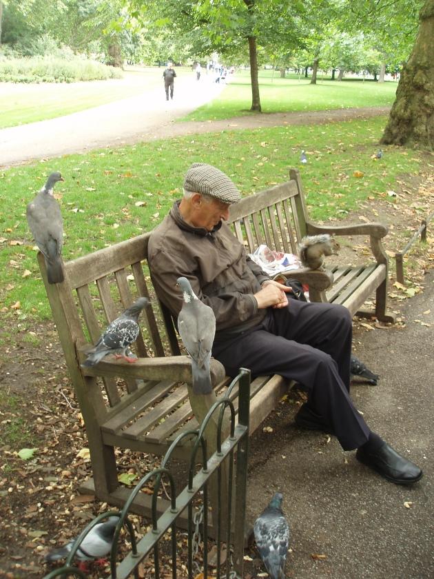Anciano en Hyde Park
